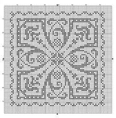 Turn it to make it into a diamond for a cool Christmas ornament pattern. Free sewing pattern graph for cross stitch.