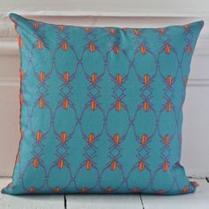 Beetle Stripe Cushion Cover (reverse) not on the high street Hand Printed Fabric, Striped Cushions, On The High Street, Beetle, Personalized Gifts, Unique Gifts, Throw Pillows, Quilts, Blanket
