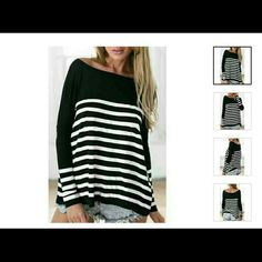 Stripped top Stripe Spliced Casual Slash Neck Long Sleeve T-Shirt For Women Size is Small but closer to XS Rose Tops