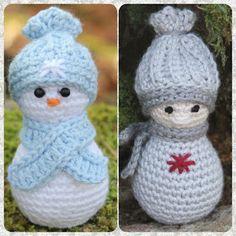 Steen i stugan: Liten virkad tomte eller snögubbe! Crochet Christmas Decorations, Christmas Inspiration, Animals And Pets, Snowman, Crochet Patterns, Crochet Ideas, Diy And Crafts, Crochet Hats, Clip Art