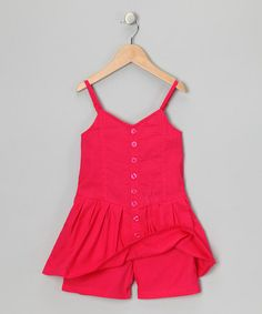 Another great find on #zulily! Pinup Red Button-Up Romper - Infant, Toddler & Girls #zulilyfinds