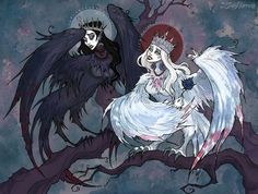IrenHorrors Art   (Music: SixToes – The Russian Song) The Sirin(Gamayun) and The Alkonost are mythological creatures with the body of a bird and the head of a beautiful woman. They derive from Slavic and Old R...
