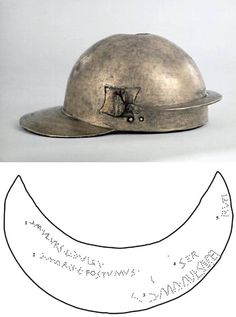 Thames Coolus, a Robinson's type E coolus helmet of mid 1st c CE in possession of British Museum. Especially interesting because of so many ownership marks on the neckguard. It was a well attested custom of Roman legionaries to punch their names in genitivus (often also their centuria's affiliation) on personal items. Here as many as 5 different owners can be indentified: Dulcius, Postumus, Saufeus, Servius & Rufus. This shows how long sometimes equipment circulated, was recycled in Roman…