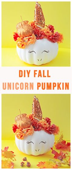 DIY Fall Unicorn Pum