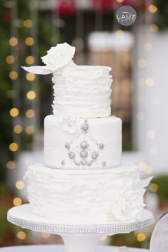 White, Silver Gems Cake Wedding Cake Designs, Wedding Cakes, Gem Cake, Diamond Cake, Something Sweet, Cakes And More, Cake Art, Amazing Cakes, Light Colors