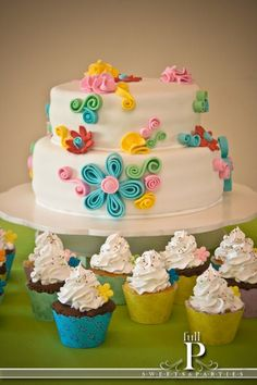 A wonderful and easy look for my next girls birthday cake.