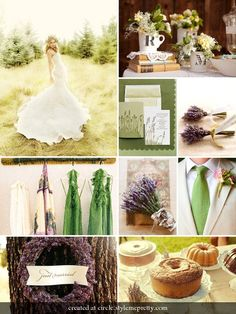 green & lavender wedding