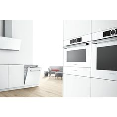 Can't get enough of white in your kitchen? We give you our new range of build-in appliances - in white, black or stainless steel. | Bosch Serie 8 ovens | #boschtestpilot | #kök | #køkken |  #kjøkken |  #keittiö