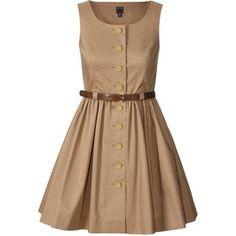 Double Cotton Pinafore Dress from Orla Kiely Dresses For Sale, Cute Dresses, Short Dresses, Dresses With Sleeves, Summer Dresses, Beige Dresses, Cotton Dresses, Dress Outfits, Fashion Outfits