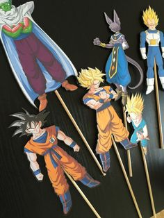 DBZ Cake Centerpiece Sticks