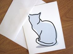Gift for Cat Lovers Cat Silhouette Line by GalleryintheGarden