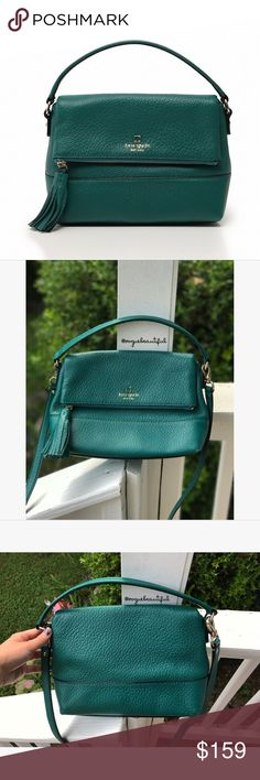 Kate Spade Southport Avenue Mini Maria Emerald 100% authentic Kate Spade Southport Avenue Mini Maria in deep emerald green - great preloved condition, just some light corner wear (shown) - dustbag not included - two-way cross body with a top handle & cross body strap - DIMENSIONS: 11.4 inches across x 8 inches in height x top handle strap drop of 3 inches x crossbody strap of 20.5 inches -  📎Measurements are approximate 📷 Colors may vary slightly from photos  💰Bundle for the best deal…
