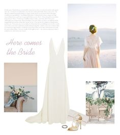 """Here comes the Bride"" by isidora ❤ liked on Polyvore featuring Michael Lo Sordo, Nancy Gonzalez and Jimmy Choo"