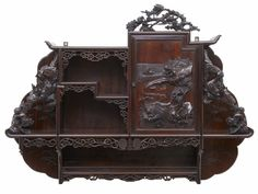19TH CENTURY CARVED CHINESE HARDWOOD WALL CABINET #LouisXVIRustic #Cabinets