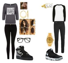 """""""Untitled #7"""" by hailey-michele on Polyvore featuring Current/Elliott, NIKE, Topman, Roial, Rolex and Ross-Simons"""
