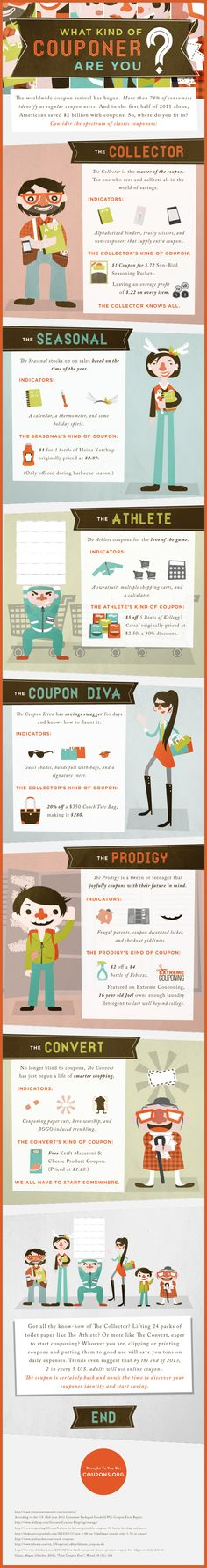 If yours is a Brand that loves to offer coupons, it might be interesting to know that couponers come in a variety of flavors...