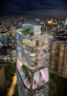 UNStudio  's design for The Scotts Tower in Singapore