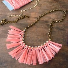 Make a summery statement with this fun and easy DIY necklace.