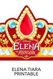 Tiara - Free Printables freaturing Disney Princess Elena of Avalor