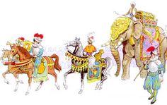 """A 12 de Março de 1514, chega a Roma uma faustosa EMBAIXADA enviada ao papa LEÃO X pelo rei D. Manuel I de Portugal. Entre os muitos animais exóticos, não conhecidos na Europa que acompanhavam a embaixada, ia um ELEFANTE da Índia chamado """"Hanno"""" recamado de xairéis preciosos levava, na sua torre, uma arca em ouro, onde ía o pontifical oferecido por D. Manuel - pedrarias, tecidos e jóias; um belíssimo  CAVALO PERSA; onças, etc. (cont.1)"""
