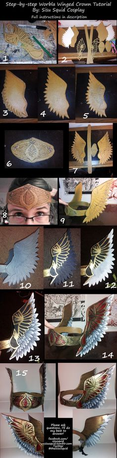 Worbla Crown Tutorial by SisuSquid on DeviantArt Armor Cosplay, Cosplay Diy, Cosplay Outfits, Cosplay Armor Tutorial, Diy Costumes, Cosplay Costumes, Costume Ideas, Valkyrie Costume, Craft Projects