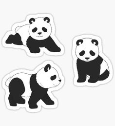 How to Draw a Panda. There are many ways to draw a panda. In this lesson, we will learn step-by-step examples drawing a panda quickly Stickers Kawaii, Diy Stickers, Planner Stickers, Laptop Stickers, Sticker Ideas, Printable Stickers, Cartoon Panda, Cute Cartoon, Panda Kawaii