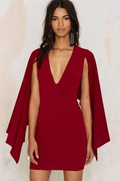 Plunging Cape Dresses are totally hot right now