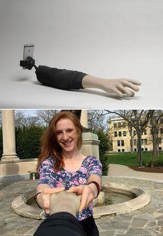 The Selfie Arm puts a hilarious twist on the selfie stick.