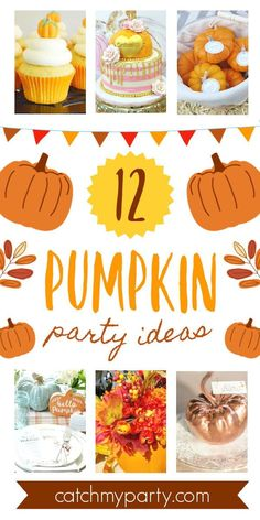 If you're thinking of planning a pumpkin-themed party you'll want to go through our roundup of gorgeous pumpkin party ideas for lots of inspirations and wonderful ideas! See more party ideas and share yours at CatchMyParty.com #catchmyparty #partyideas #pumpkin #pumpkinparty #pumpkin1stbirthdayparty #fall #fallparty A Pumpkin, Autumn Theme, Party Cakes, Birthday Party Themes, Holiday Parties, Party Planning, Party Ideas, Fall, Amazing