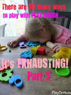 even MORE ways to play with playdough!
