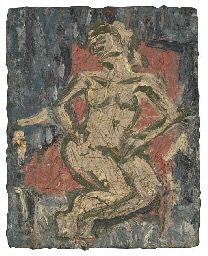 Fidelma in the Red Chair - Leon Kossoff