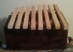 Africanstyle boxresonated xylophone madinda by PanAfricanArts