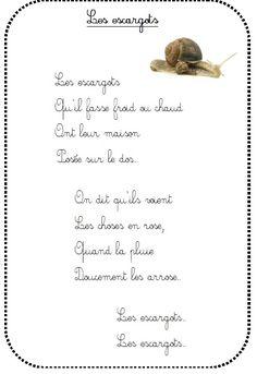 comptine Les escargots chez Vivi: tribune libre - école petite section