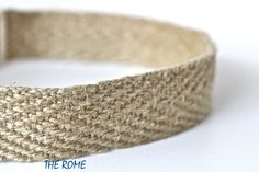 Hemp Dog Collar / 1 inch Herringbone Hemp Dog by GreenBeanDog