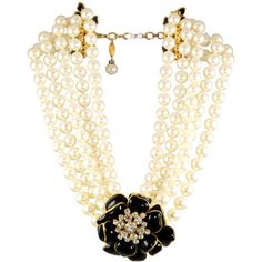 Chanel - Fantastic Pearl, Rhinestone, and Poured Glass Necklace by Chanel