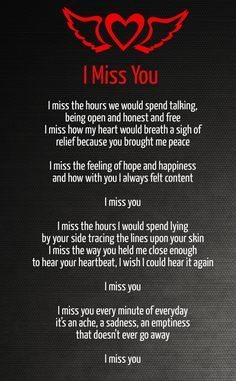 short poems about missing someone