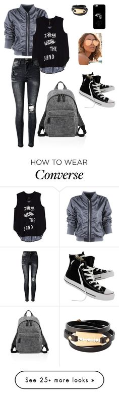 """Casual"" by fannyfelia on Polyvore featuring Melissa McCarthy Seven7, Quay, McQ by Alexander McQueen, Marc Jacobs, Converse and plus size clothing"