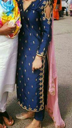 Haute spot for Indian Outfits. Patiala Suit Designs, Kurta Designs, Blouse Designs, Punjabi Suits Designer Boutique, Indian Designer Suits, Embroidery Suits Punjabi, Embroidery Suits Design, Punjabi Fashion, Indian Fashion