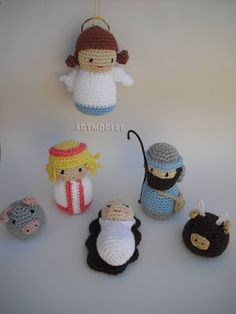 Artmorixe - Belén a crochet