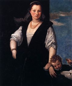 16th century (1547-1548)  Portrait of a lady, probably Isabella Guerrieri Gonzaga Canossa by Paolo Veronese  Louvre