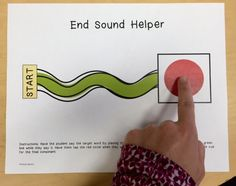 """This is a simple """"end sound helper"""" to help students who delete final consonants. It is a FREEBIE in my TPT store! Get it here:  https://www.teacherspayteachers.com/Product/End-Sound-Helper-FREEBIE-for-Final-Consonant-Deletion-Phonological-Processing-1913728"""
