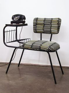 cool mid-century telephone chair from ljindustries on etsy