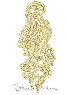 Free-Standing Lace Machine Embroidery Design