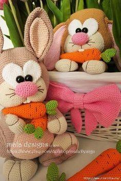 Вязаные кролики от Mala Designs. Перевод Анастасии Макеевой