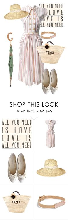 """""""dress"""" by masayuki4499 ❤ liked on Polyvore featuring Sugarboo Designs, Claire McCardell, Chanel, Barbour, Fendi, Vera Bradley and Gucci"""