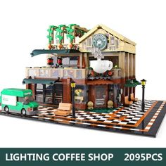 Small Buildings, Displaying Collections, Coffee Shop, Lego, Restaurant, Shapes, Toys, Birthday, Christmas