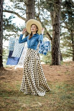 Waltzing Matilda Polka Dot Ball Skirt from the Aussie Afternoon Collection by Shabby Apple