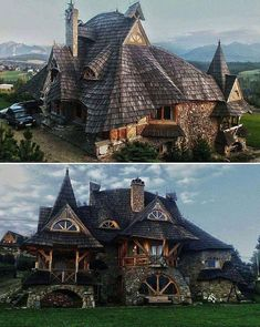 A witch house 🏡 wooden cottage , Tatra mountains , Poland 🇵🇱 Model Architecture, Architecture Design Concept, Beautiful Architecture, Beautiful Buildings, Beautiful Homes, Beautiful Places, Victorian Architecture, Unusual Buildings, Interior Architecture