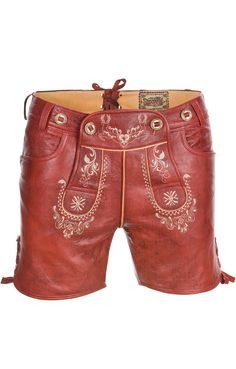 Who said traditional garb is dated and old-fashioned?  these LEATHER SHORTS rock! http://www.gorara.com/tradition-ist-in-und-das-dirndl-ist-chic/