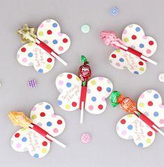 Patrón de mariposa lollipop tarjeta de papel decorativo bricolaje tarjeta decoración 50 unids/lote herramienta de la hornada(China (Mainland))